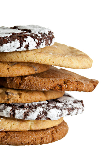 Milk Chocolate「Assorted Cookies Stack Isolated On White」:スマホ壁紙(0)
