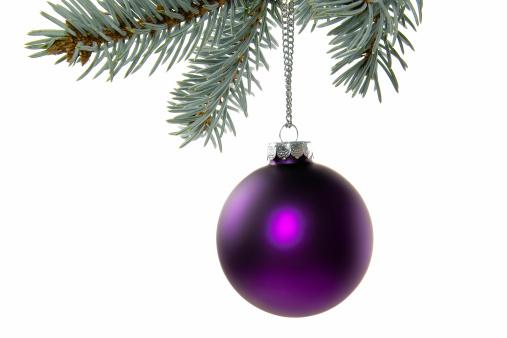 トウヒ「パープルのクリスマスボール飾り」:スマホ壁紙(9)