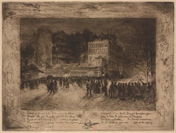 Etching「La Place Des Martyrs Et La Taverne Du Bagne」:写真・画像(6)[壁紙.com]