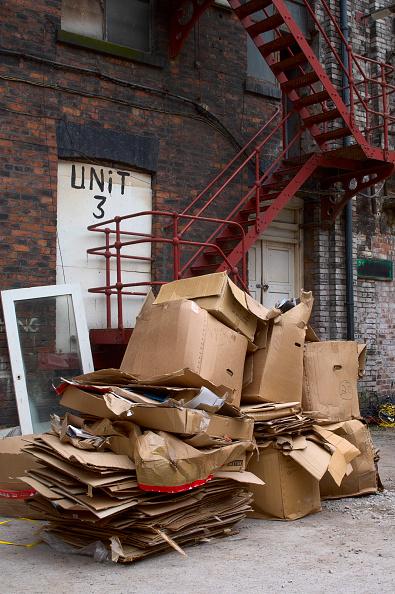Recycling「Cardboard pile in a backyard」:写真・画像(9)[壁紙.com]