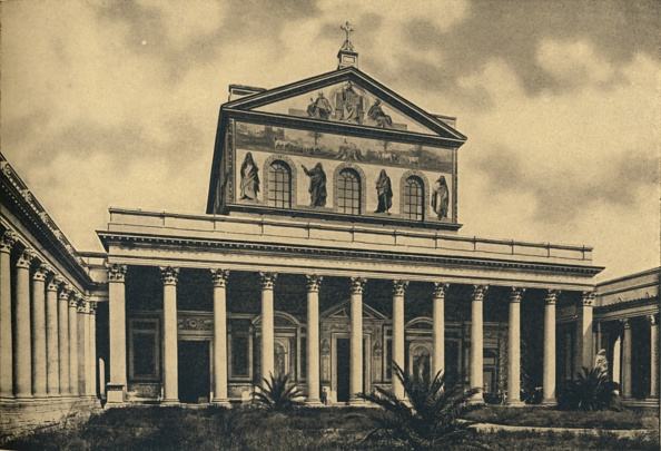 Basilica「Roma - Principal Facade Of The Basilica Of St Paul Without The Walls 1910」:写真・画像(14)[壁紙.com]