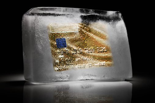 Employment And Labor「Credit card frozen inside a block of ice」:スマホ壁紙(18)