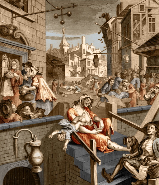 Social History「Gin Lane -  caricature by William Hogarth」:写真・画像(3)[壁紙.com]