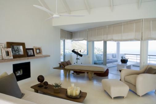 Ceiling Fan「Modern living room and veranda」:スマホ壁紙(13)