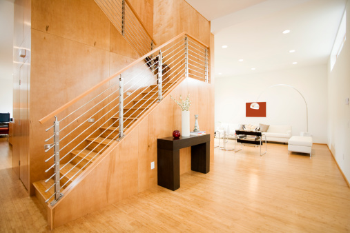 Staircase「Modern Living Space with Natural Light」:スマホ壁紙(10)