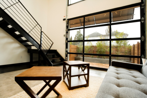 Steps and Staircases「Modern Living Space with Natural Light」:スマホ壁紙(8)