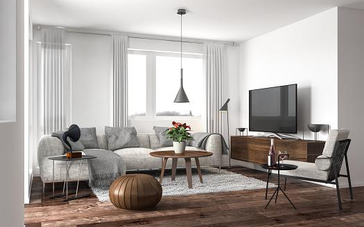 Floral「Modern living room」:スマホ壁紙(10)
