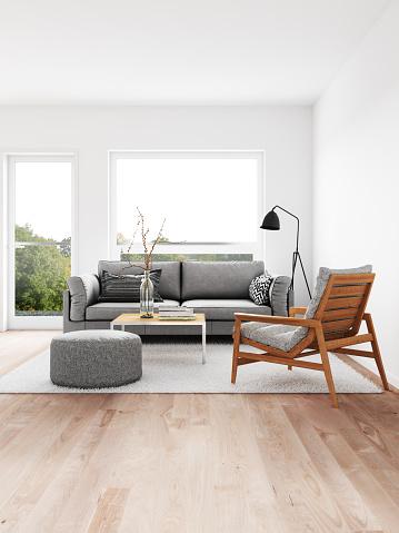 Stool「Modern living room」:スマホ壁紙(14)