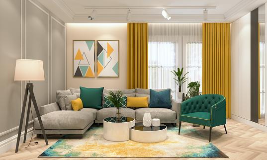 Rug「Modern Living Room」:スマホ壁紙(0)