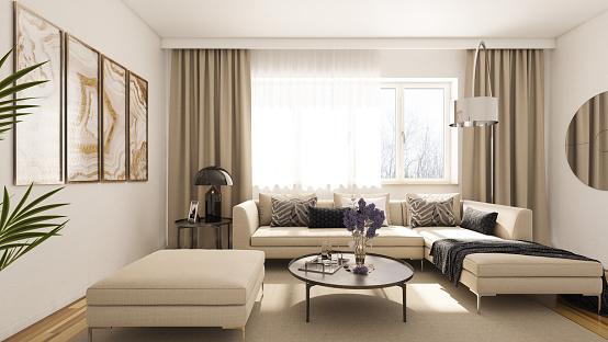 Comfortable「Modern Living Room」:スマホ壁紙(2)