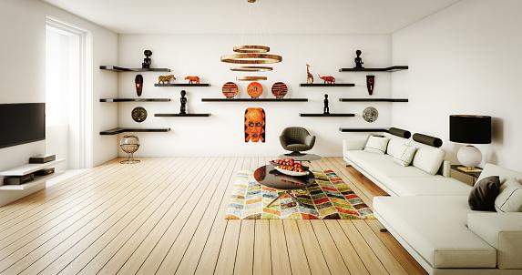 Arts Culture and Entertainment「Modern Living Room」:スマホ壁紙(15)