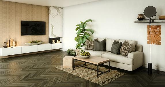 Comfortable「Modern Living Room」:スマホ壁紙(16)