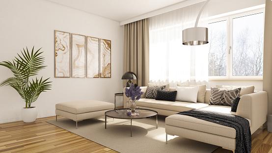 Living Room「Modern Living Room」:スマホ壁紙(17)
