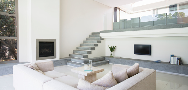 Panoramic「Modern living room with balcony」:スマホ壁紙(18)