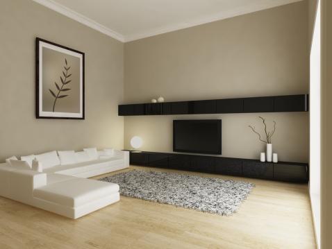 Letter S「Modern Living Room Interior」:スマホ壁紙(3)