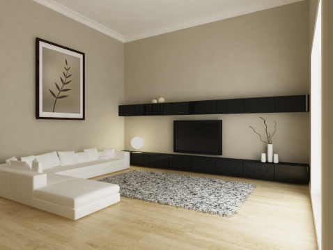 Beige「Modern Living Room Interior」:スマホ壁紙(16)