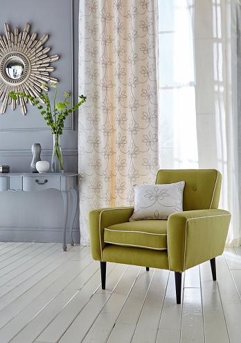 Floral Pattern「Modern living room interior」:スマホ壁紙(12)