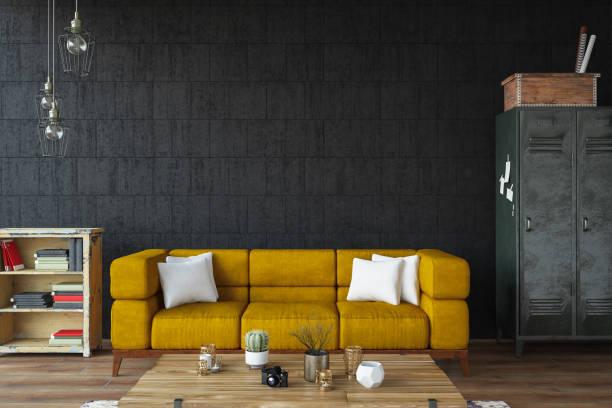 Modern Living Room with Sofa and Decorations:スマホ壁紙(壁紙.com)