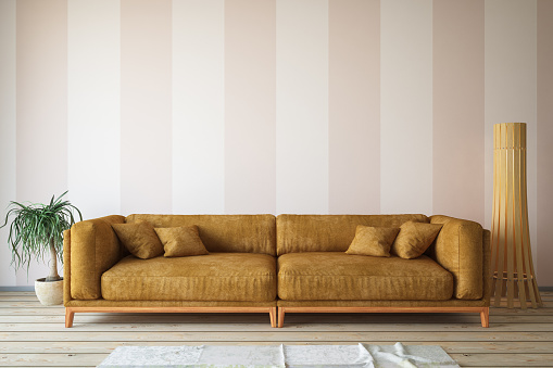 Pastel「Modern Living Room with Sofa and Decorations」:スマホ壁紙(13)