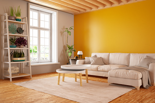 Vibrant Color「Modern Living Room with Sofa」:スマホ壁紙(4)