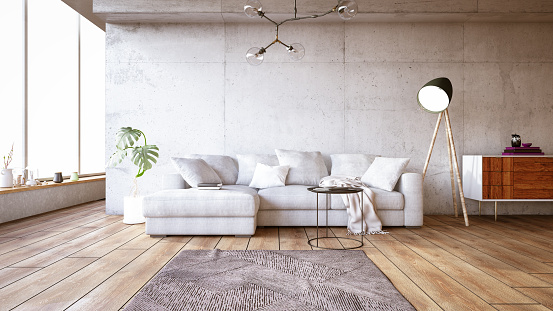 Clean「Modern Living Room with Sofa」:スマホ壁紙(7)