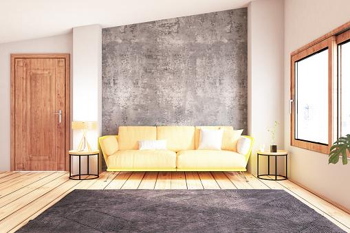 Wallpaper - Decor「Modern Living Room with Sofa」:スマホ壁紙(11)