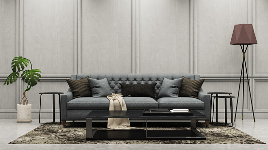 Branch - Plant Part「Modern Living Room with Sofa」:スマホ壁紙(8)