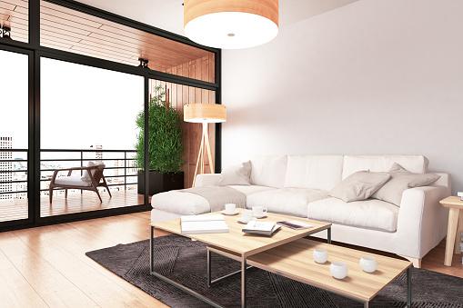Turkey - Middle East「Modern Living Room with Sofa」:スマホ壁紙(1)