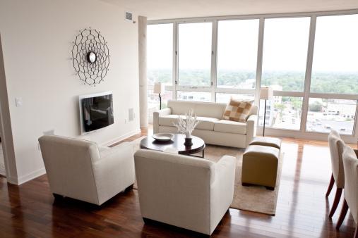 Skyscraper「Modern Livingroom」:スマホ壁紙(17)