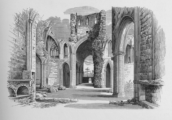 Overgrown「'Nave and North and South Aisle', Melrose Abbey, c1880, (1897)」:写真・画像(10)[壁紙.com]