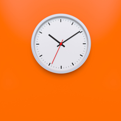 Orange Color「Wall Clock XL+」:スマホ壁紙(17)