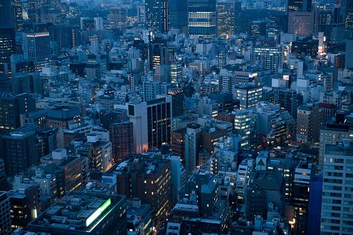 Antenna - Aerial「Office building at night」:スマホ壁紙(17)