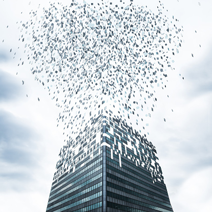 Cloud Computing「Office Building Flying Apart」:スマホ壁紙(8)