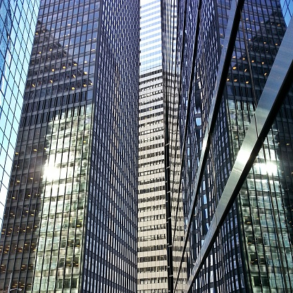 ニューヨーク市「Office Buildings in Financial District, Manhattan, New York City, USA」:スマホ壁紙(14)