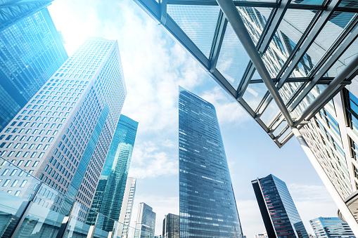 Cityscape「Office buildings with sunlight」:スマホ壁紙(11)