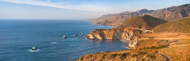 Bixby Bridge panoramic, Big Sur, California, USA:スマホ壁紙(壁紙.com)