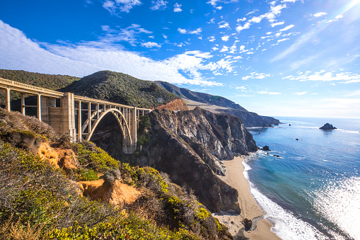 Monterey Peninsula「Bixby Bridge and Pacific Coast Highway 1」:スマホ壁紙(1)