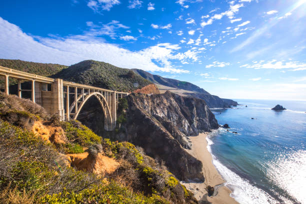 Bixby Bridge and Pacific Coast Highway 1:スマホ壁紙(壁紙.com)