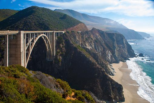 Bixby Creek Bridge「Bixby Bridge and Pacific Coast Highway, Big Sur Coastline, California.」:スマホ壁紙(14)