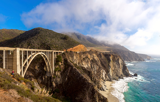 Big Sur「Bixby Bridge on the California Coastline」:スマホ壁紙(5)