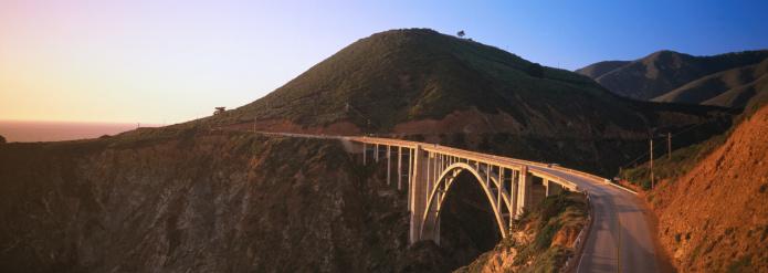 Bixby Creek Bridge「Bixby Bridge at dusk.」:スマホ壁紙(17)