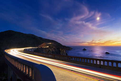 Bixby Creek Bridge「Bixby Bridge at dusk.」:スマホ壁紙(0)