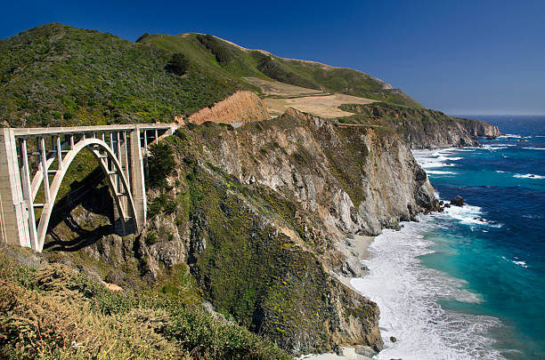 Bixby Bridge in Big Sur:スマホ壁紙(壁紙.com)