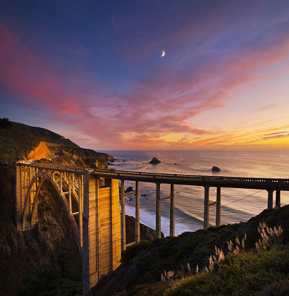 Bixby Creek Bridge「Bixby Bridge at sunset.」:スマホ壁紙(18)