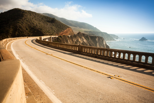 Coastline「Bixby Bridge, Big Sur, California, USA」:スマホ壁紙(16)
