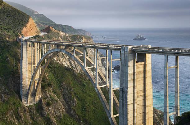 Bixby Bridge Big Sur California:スマホ壁紙(壁紙.com)