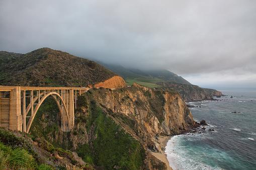 California State Route 1「Bixby Bridge, Big Sur, California」:スマホ壁紙(6)