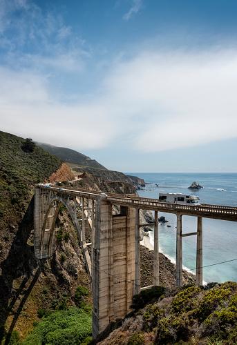 California State Route 1「Bixby Bridge  on Highway 1」:スマホ壁紙(1)