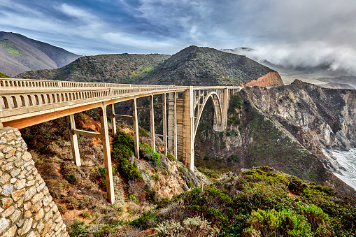 Bixby Creek Bridge「Bixby Bridge on Highway One on Big Sur coastline,California,USA」:スマホ壁紙(18)