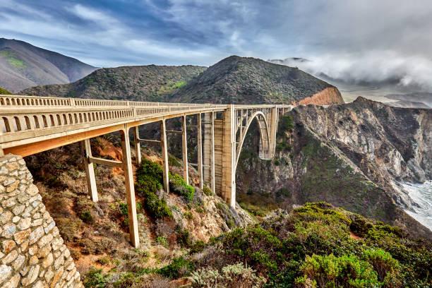 Bixby Bridge on Highway One on Big Sur coastline,California,USA:スマホ壁紙(壁紙.com)